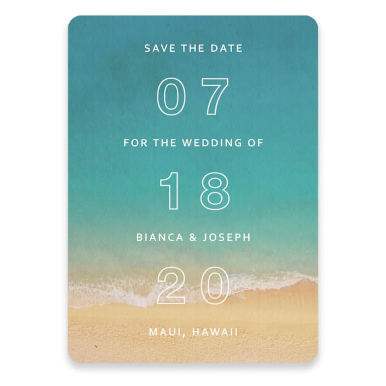 Classic Outline Save The Date