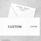Custom All Inclusive Invitation With Postcard Rsvp