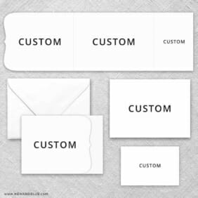 Custom All Inclusive Invitation Set