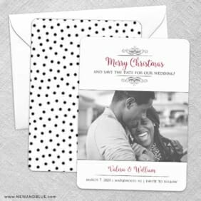 A Partridge In A Pear Tree Save The Date Wedding Card