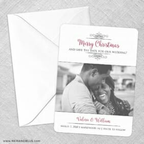 A Partridge In A Pear Tree Save The Date Party Card