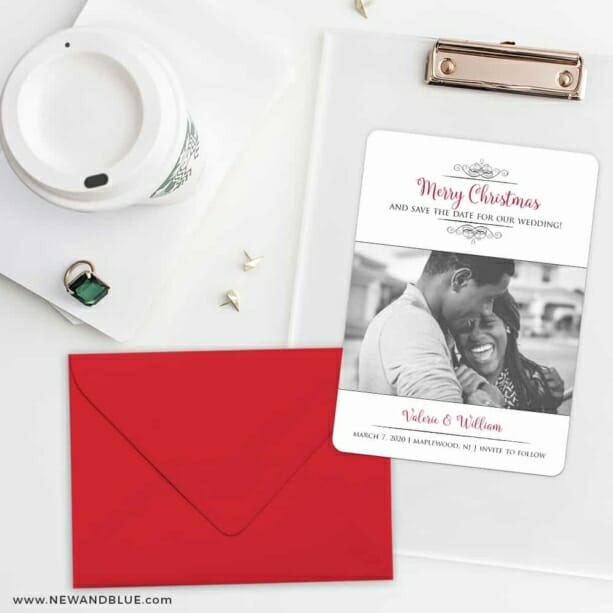 A Partridge In A Pear Tree Save The Date Cards And Optional Color Envelopes