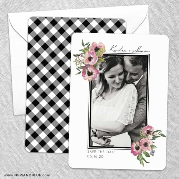 Bloom Nb Save The Date Wedding Card