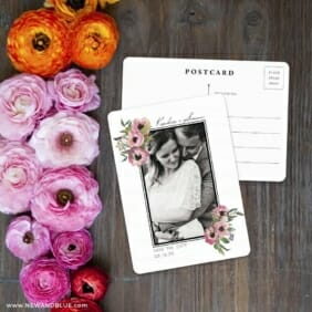 Bloom Nb Save The Date Postcard With Back