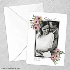 Bloom Nb Save The Date Party Card