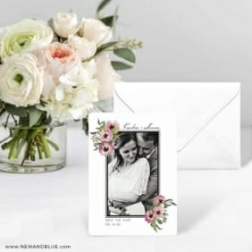 Bloom Nb Save The Date Card With Envelope