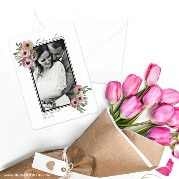 Bloom Nb Save The Date Cards With Envelope
