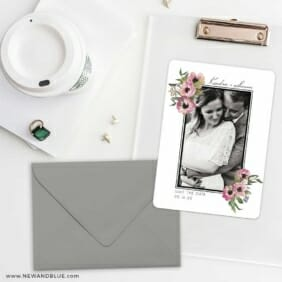 Bloom Nb Save The Date Cards And Optional Color Envelopes