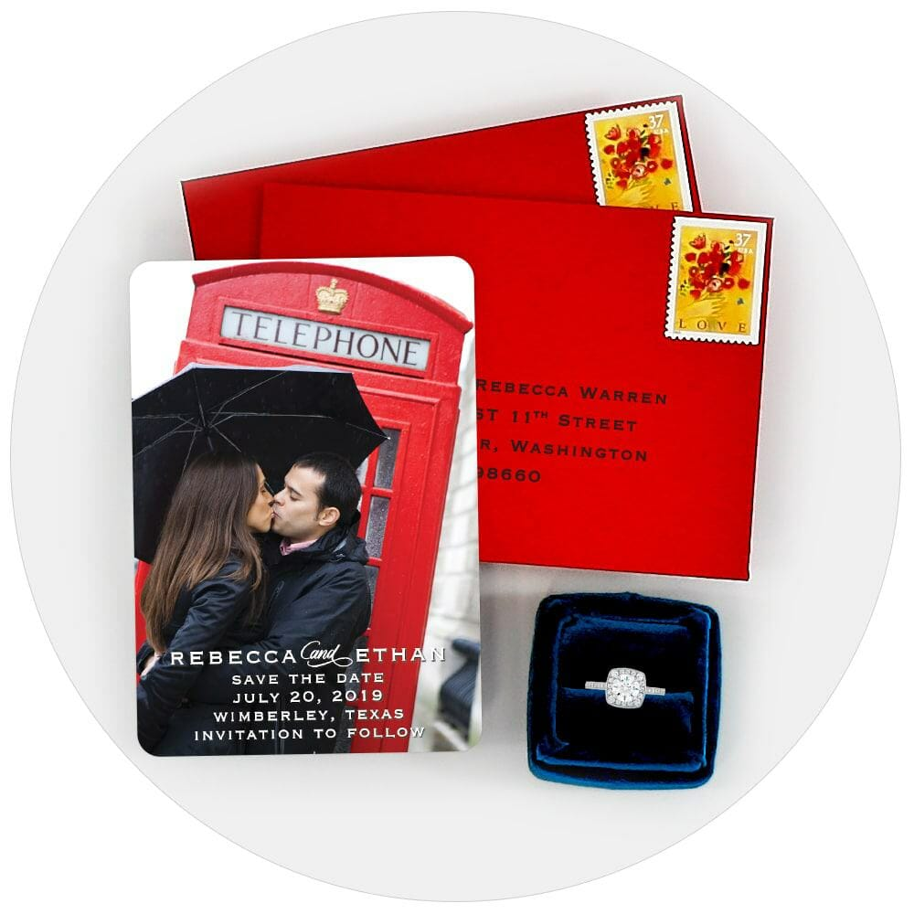 Save The Date Magnets Free Color Envelopes Free Address Printing