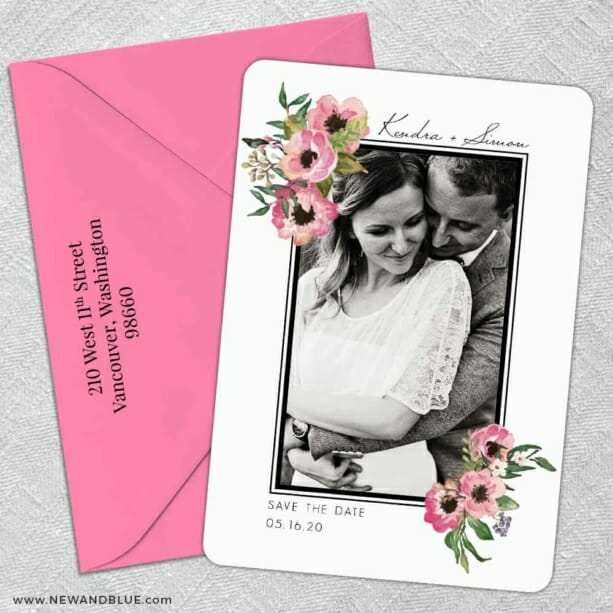 Bloom Nb 5 Save The Date With Optional Color Envelope