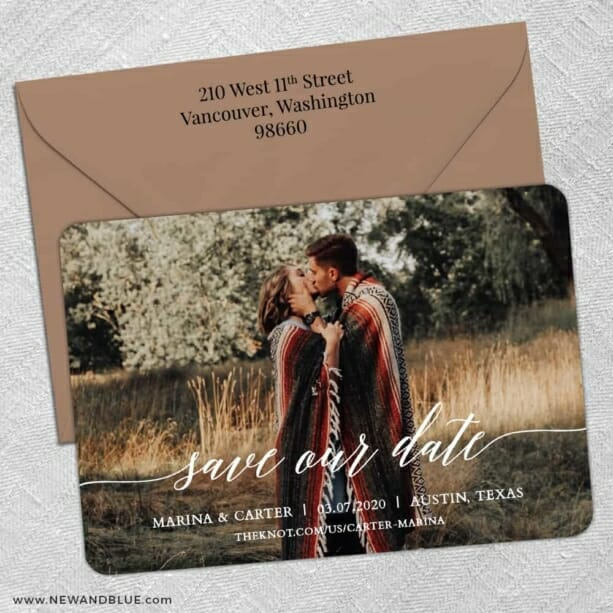 Scripted Romance 5 Save The Date With Optional Color Envelope