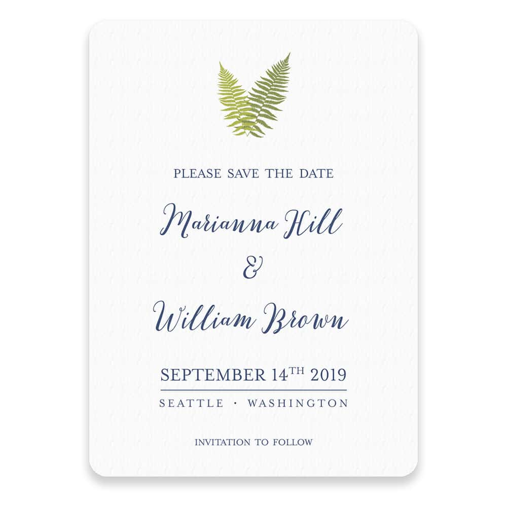 Fern Save The Date