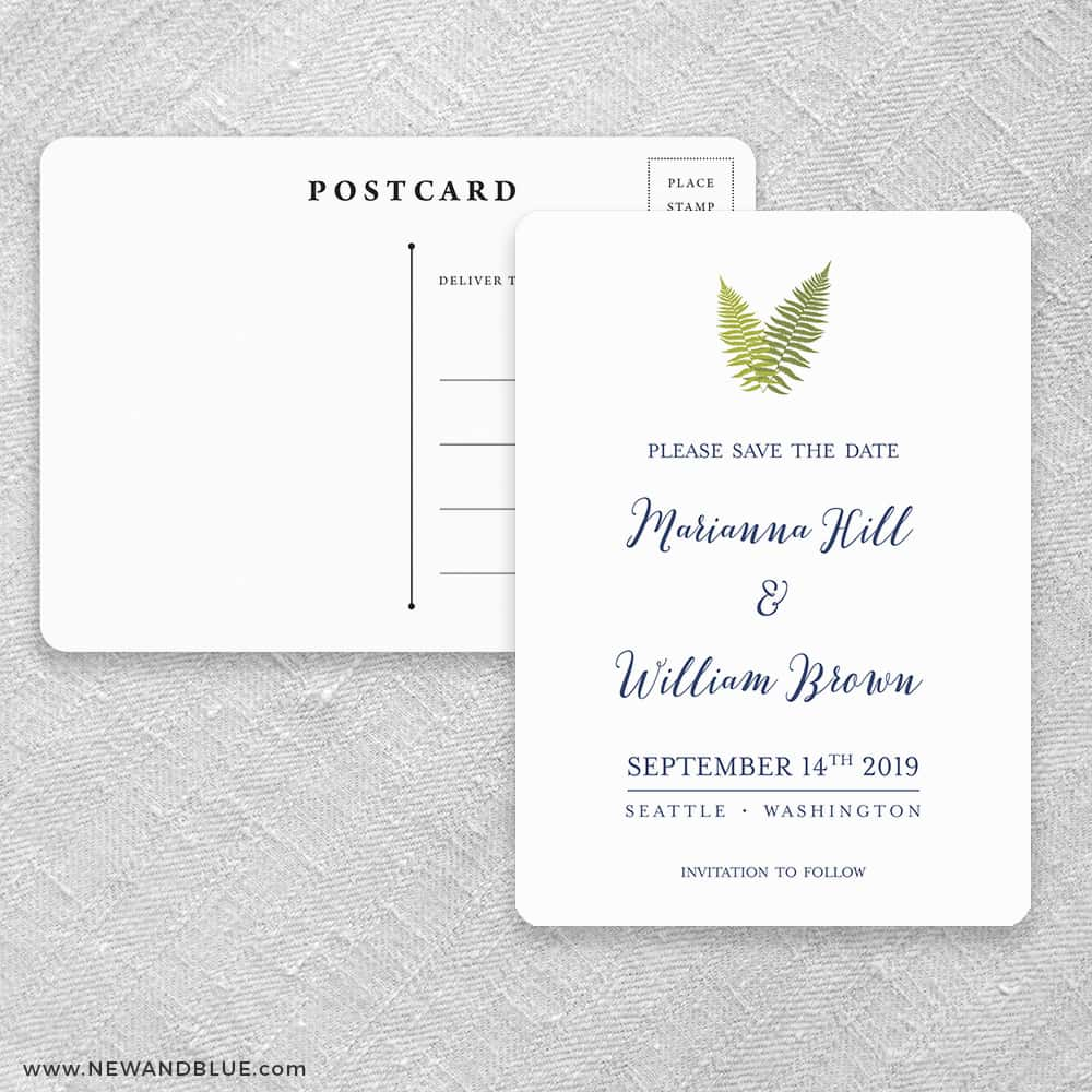 Fern Save The Date Postcards