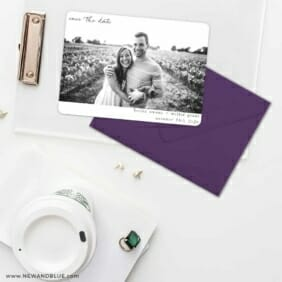 Exciting Times Save The Date Cards And Optional Color Envelopes