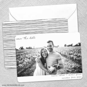 Exciting Times Save The Date Wedding Card