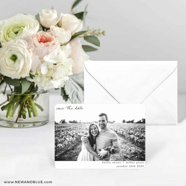 Exciting Times Save The Date Card With Envelope