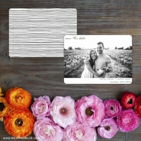 Exciting Times Save The Date Card With Back Printing