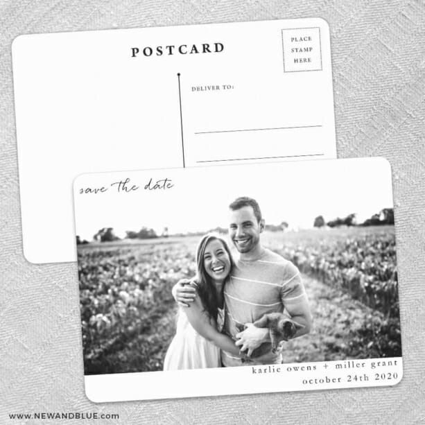 Exciting Times Save The Date Wedding Postcard Front And Back
