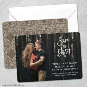 Enchanted Embrace Save The Date Wedding Card