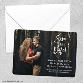 Enchanted Embrace Save The Date Party Card