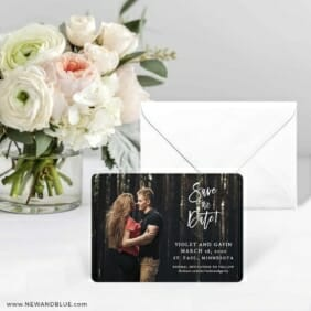 Enchanted Embrace Save The Date Card With Envelope