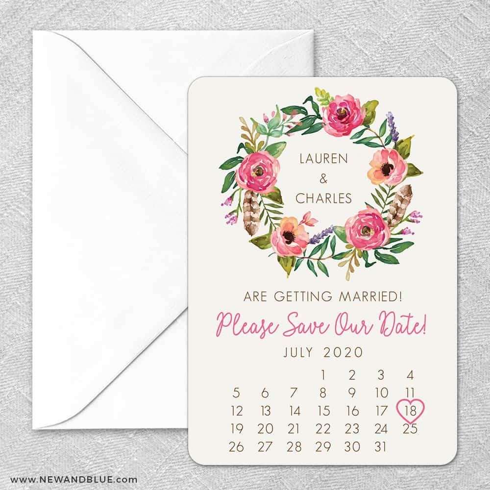 Floral Calendar Classic Size