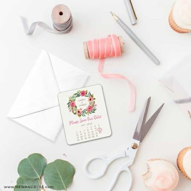 Floral Calendar 4 Petite Size Magnet