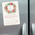 Floral Calendar 3 Refrigerator Save The Date Magnets
