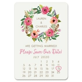 Floral Calendar 1 Save The Date Magnets