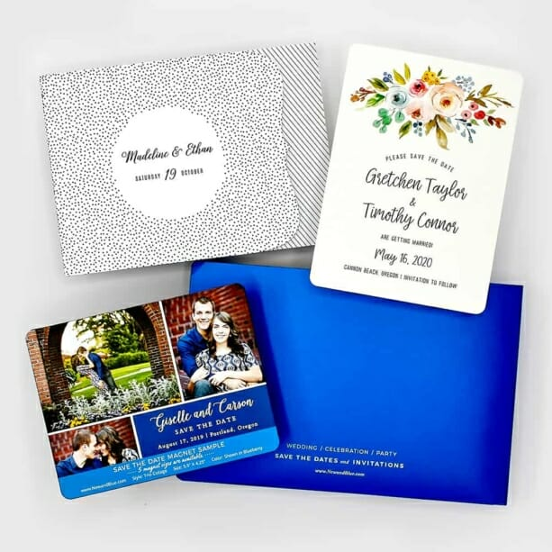 Sample Kit Save The Date Magnets And Wedding Invitations 2