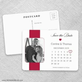 All You Need Is Love Nb1 Save The Date Postcards No Envelope Needed