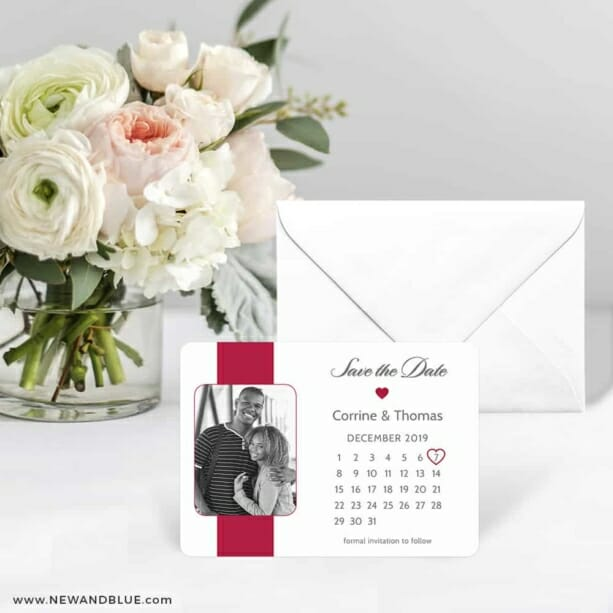 All You Need Is Love Nb1 Save The Date Card With Envelope