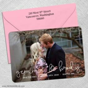 So In Love 5 Save The Date With Optional Color Envelope