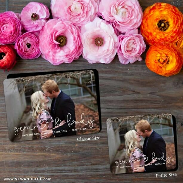 So In Love 2 Save The Date Magnet Classic And Petite Size