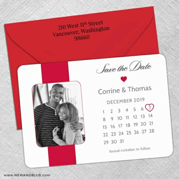 All You Need Is Love Nb1 5 Save The Date With Optional Color Envelope