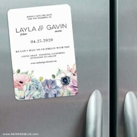 Botanical Nb 3 Refrigerator Save The Date Magnets
