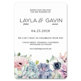 Botanical Nb 1 Save The Date Magnets