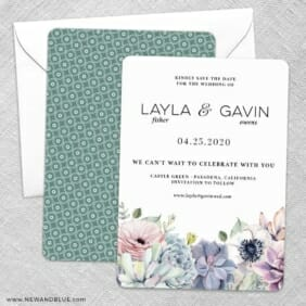 Botanical Nb Save The Date Wedding Card