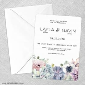 Botanical Nb Save The Date Party Card