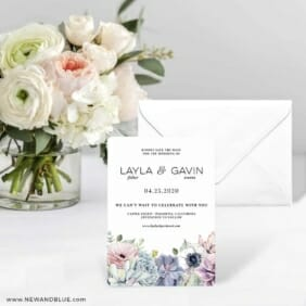 Botanical Nb Save The Date Card With Envelope