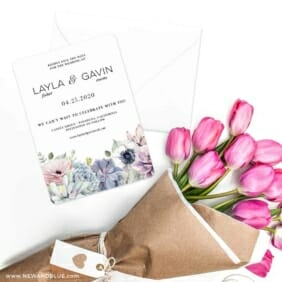 Botanical Nb Save The Date Cards With Envelope