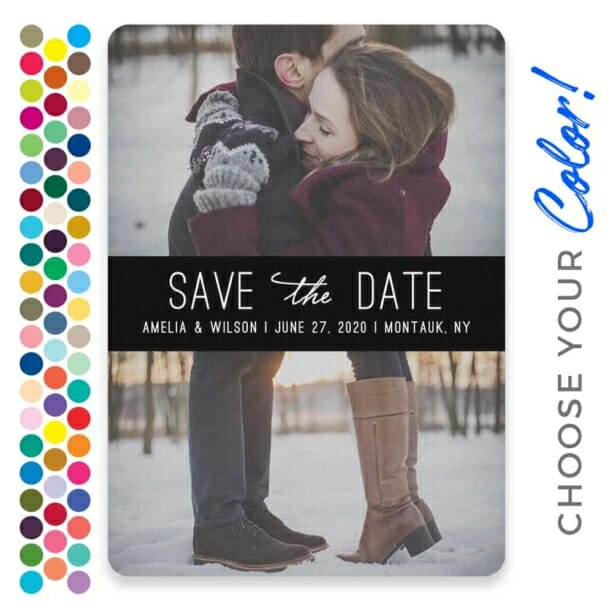 Montauk Nb Save The Date With Envelope Customizable Color