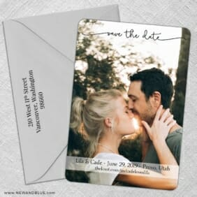 Twirl Nb 1 5 Save The Date With Optional Color Envelope
