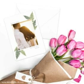 Framed In Ferns Save The Date Cards With Envelope