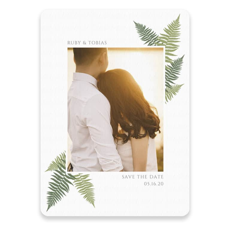 Framed In Ferns Save The Date
