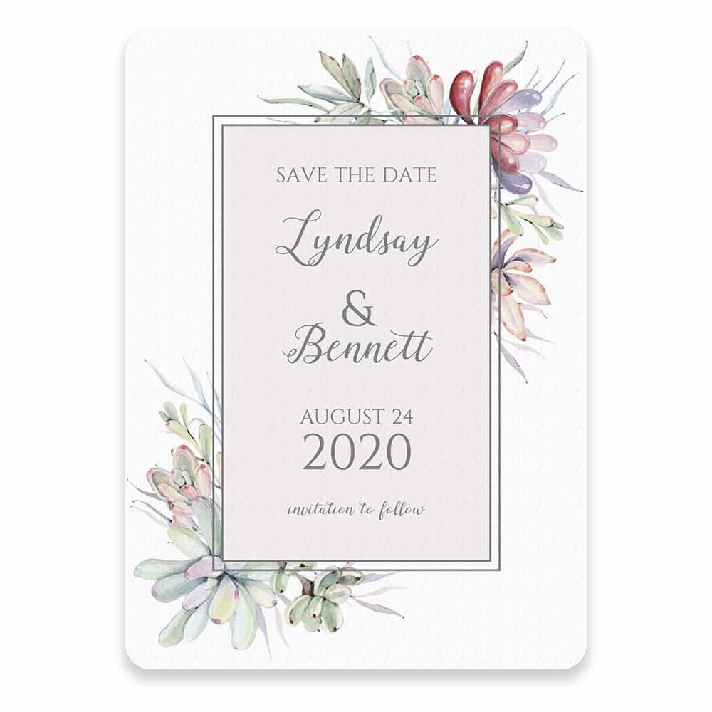 Botanical Frame Nb Save The Date