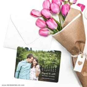 Charming Calendar Nb Save The Date Cards With Envelope