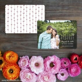 Charming Calendar Nb Save The Date Card With Back Printing