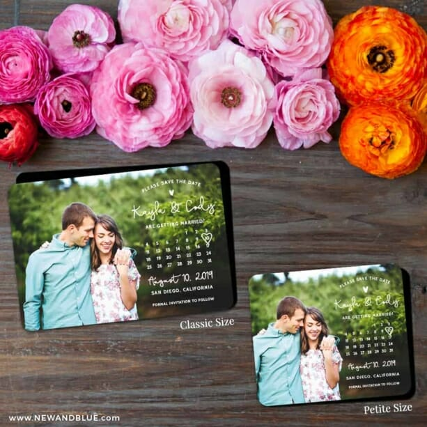 Charming Calendar Nb1 2 Save The Date Magnet Classic And Petite Size