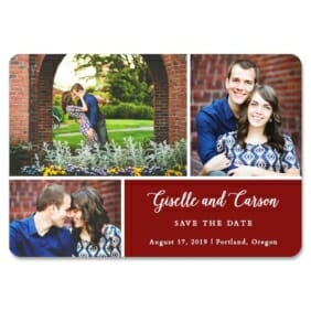 Trio Collage 1 Save The Date Magnets